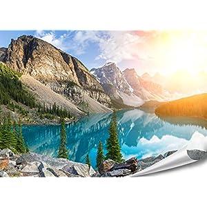PMP-4life Wand-Bild Bergsee in Kanada | 140x100cm | hochauflösendes Gebirgssee-Poster XXL, Natur Poster, großes…