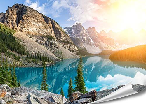 PMP-4life Wand-Bild Bergsee in Kanada | 140x100cm | hochauflösendes Gebirgssee-Poster XXL, Natur...