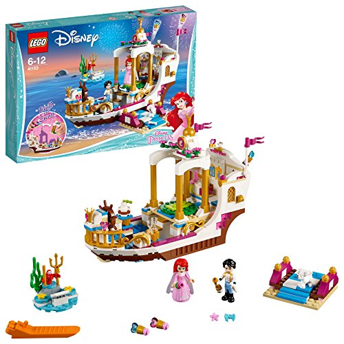 LEGO Disney 41153 - Princess Arielles königliches Hochzeitsboot, Kinderspielzeug (Ariel Und Sebastian Kostüm)