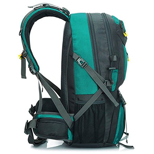 Rucksack Wasserdicht Faltbare leichte Wandern Packbar (Geschenk-1x Multifunktions-Taschenlampe) Hellblau