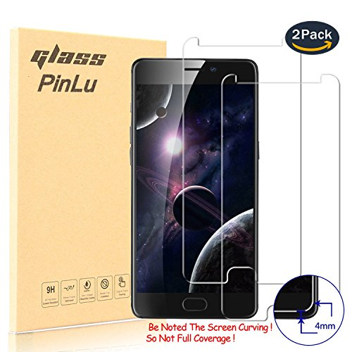 Galleria fotografica [2 Pack] Pellicola Protettiva per Elephone P8 , pinlu® Screen Protector Toccare Compatibile Pellicola ultra resistente in vetro temperato per Elephone P8