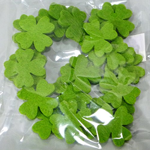 Filz-Kleeblätter - Streudeko - 3,5 cm grün 1 VE = 24 Stück - 73538 Filz-kitchen