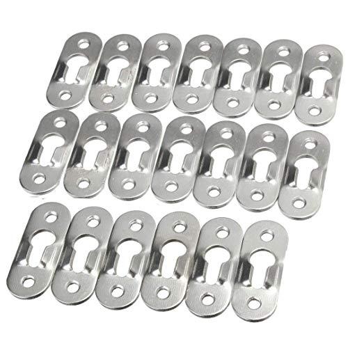 QTYB Keyhole grucce Metallo Chiusure per cornici specchi Armadio, 44mm x 16mm
