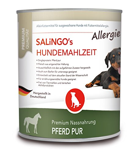 SALiNGO Allergie Hundefutter nass, Pferd PUR (6x800g)