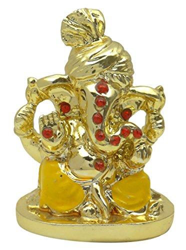 Marbre Poly Décoration Ganesha Religieux Cadeau Voiture De Bureau Statue Tableau De Bord De Décoration