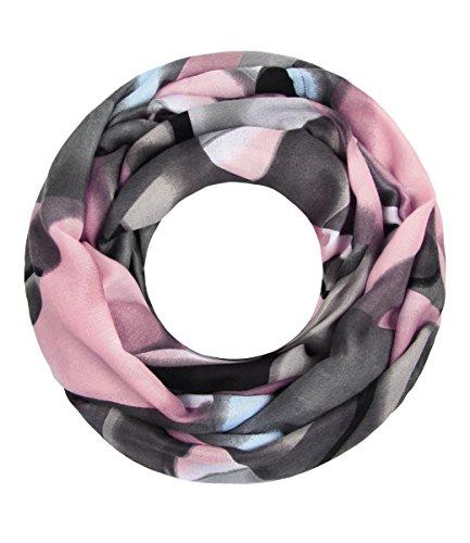 Majea NEUE Kollektion Damen Loop Schal viele Farben Muster Schlauchschal Halstuch in aktuellen Trendfarben (rosa 15)
