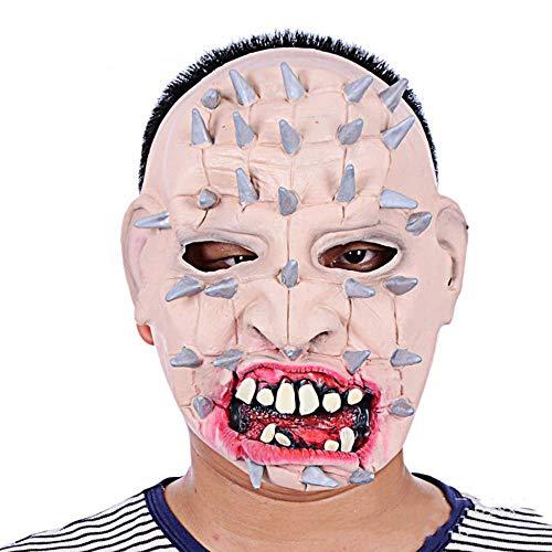Circlefly Halloween Horror Stahl Nägel Gesicht Latex Maske Horror beängstigend Zähne Adult Horrormaske (Adult Beängstigend Masken)
