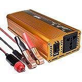 Tellunow Inversor de energía 600W Pico 1200W Inversor de energía 12V DC a 220V 50Hz AC Inversor de energía Solar Onda Pura sinusoidal con Puerto USB para el hogar, Coche, al Aire Libre
