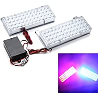 96LED Auto Strobe Light Front Bar Auxiliary Light Grille Fendinebbia Security Booth Light 3 Flashing Modes