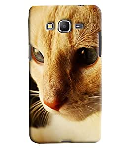 Blue Throat Cat Face Printed Designer Back Cover For Samsung Galaxy Grand Prime