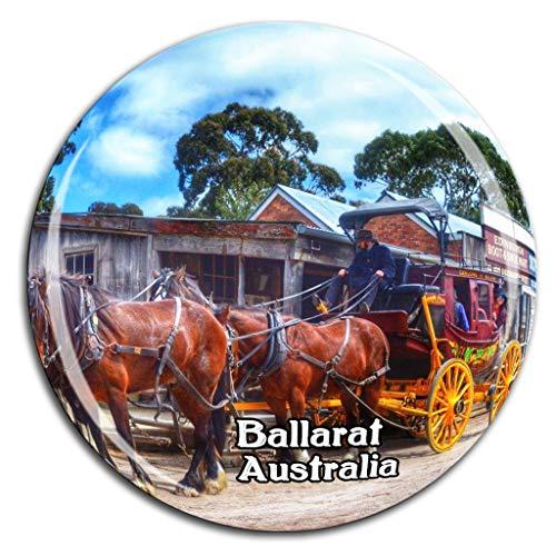 Weekino Souveräner Hügel Ballarat Australien Kühlschrankmagnet 3D Kristallglas Tourist City Travel Souvenir Collection Geschenk Stark Kühlschrank Aufkleber