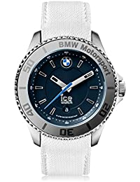Ice-Watch - BMW Motorsport (steel) White - Weiße Herrenuhr mit Lederarmband - 001116 (Large)