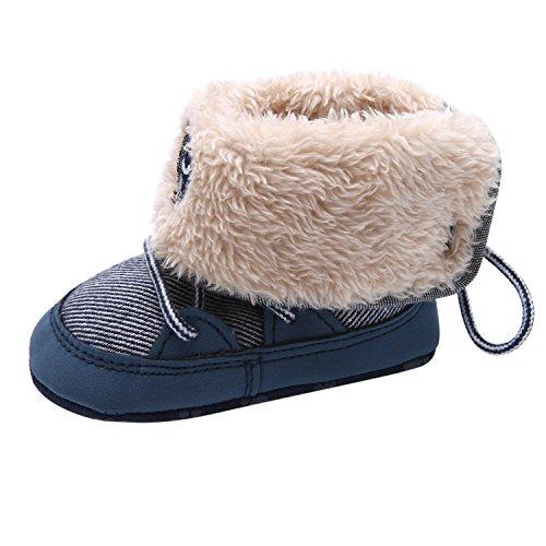 CHIC-CHIC Chaussures Souple Bébé et Bambin Botte de Neige - Garçons et Filles Chausson Mignon Jeans Chaussures Premiers Pas