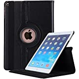 Robustrion Smart 360 Degree Rotating Stand Case Cover iPad 9.7 inch 2018/2017 5th 6th Generation - Black