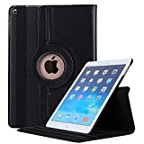 #5: Robustrion Smart 360 Degree Rotating Stand Case Cover For New iPad 9.7 inch 2018/2017 5th 6th Generation Model A1822 A1823 A1893 A1954 & ipad Air 2013 A1474 A1475 A1476 A1566 A1567 - Black