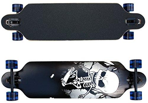 Longboard mit Sklette 39 INCH in schwarz Gothik ABEC-9 Lager Ahornholz 9 Lager Kanada NEU & OVP