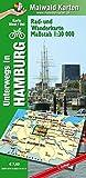 Hamburg Ost/West - Rad- und Wanderkarte - mit Rückseite Hamburg Ost: Unterwegs in Hamburg (mit Umland). 1:30.000 - Detlef Maiwald, Detlef sr Maiwald