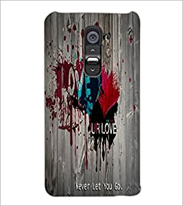 PrintDhaba Quote D-5591 Back Case Cover for LG G2 (Multi-Coloured)