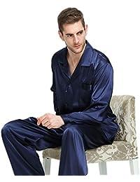 Herren Seide Schlafanzug Pyjama Homewear S~4XL Plus-Größe