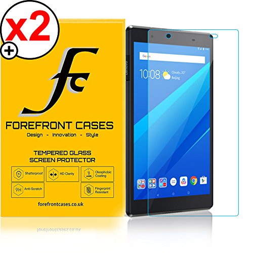 Forefront Cases Lenovo Tab 4 8 / Lenovo Tab4 8 20,32 cm (8 Zoll HD IPS Touch) Tablet-PC [HD KLARHEIT] Gehärtetes Glas Panzerglas Folie Schutzfolie Screen Protector [Ultra DÜNN 0.3mm] (Packung mit 2) -