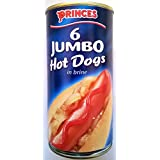 Hot Dogs Princes Jumbo en saumure 4 x 560gm