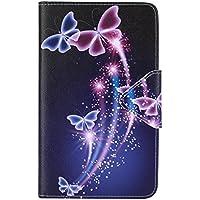 Funda Samsung Galaxy Tab 4 7.0 - DETUOSI Ultra delgado ligero Fundas de Cuero Cover Case Carcasa con Stand Función para Samsung Galaxy Tab 4 7.0 (SM-T230 T231 T235) Tablet de 7.0 Pulgadas