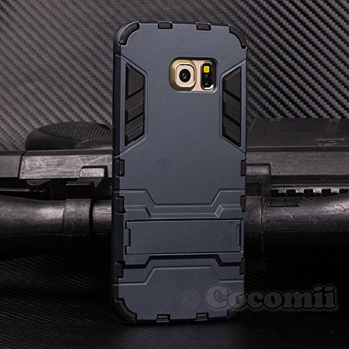 Cocomii Iron Man Armor Galaxy S6 Edge+ Plus Custodia Nuovo [Robusto] Tattico Presa Cavalletto Antiurto Copertura [Militare Difensore] Case Paraurti for Samsung Galaxy S6 Edge+ Plus (I.Black)