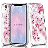 Sinjoro Coque iPhone XR, Ultra Mince Motif de Fleurs Claires TPU Souple Coque,...