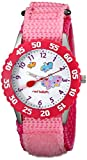 """Red Balloon Kids' W000182""""Butterflies Time Teacher"""" Stainless Steel Watch with Pink Nylon Band"""