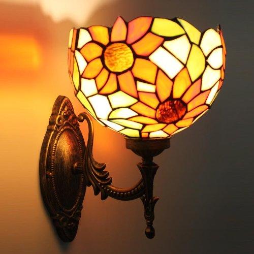 Uncle Sam LI - tournesol européenne chaud miroir mural barre frontale lampe de café à fuselage large lampe de coin escaliers
