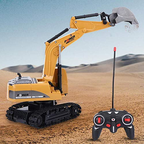 RC Auto kaufen Kettenfahrzeug Bild 4: Fernbedienung Bagger, 2,4 GHz 6 Kanäle Fernbedienung Bagger LKW 1/24 RC Engineering Auto Baufahrzeug Spielzeug Geschenk für Kinder*