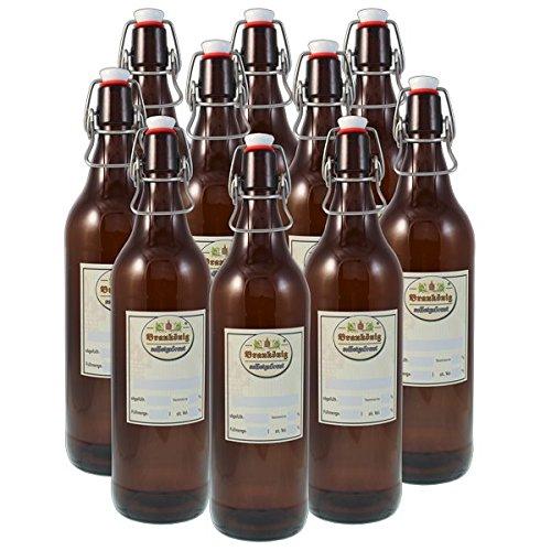 BRAUKÖNIG ® 1 Literflaschen, 10er Set, Braukönig
