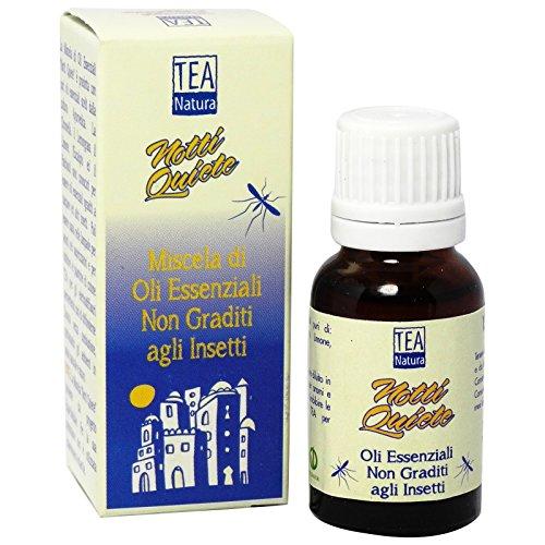 TEA NATURA - Mélange Anti-moustique aux Huiles Essentielles - 100% Naturel et végétalien - Répulsif mais pas Létal pour les Insectes - 15 ml