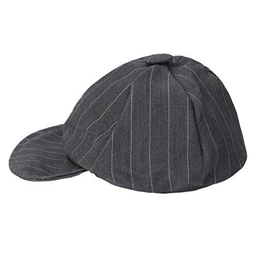YiZYiF Neugeborene Baby Jungen Kapppe Hüte Kinder Baskenmütze Gatsby Schirmmütze Frühling Herbst Mütze Grau 0-6 Monate (Kopfumfang: 40-45cm)