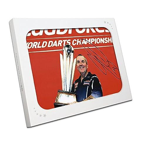Phil Taylor Signé Darts Photo: 16 Champion du Monde Times.