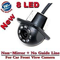 Auto Wayfeng® 8 LED CCD HD Cámara de visión frontal Noche de visión Gran Cámara Cámara de visión trasera Coche de reversión de copia de seguridad para la ...