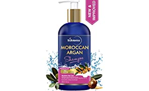 StBotanica Moroccan Argan Hair Shampoo With Organic Argan Oil, 300ml (No Sulphate, Paraben)