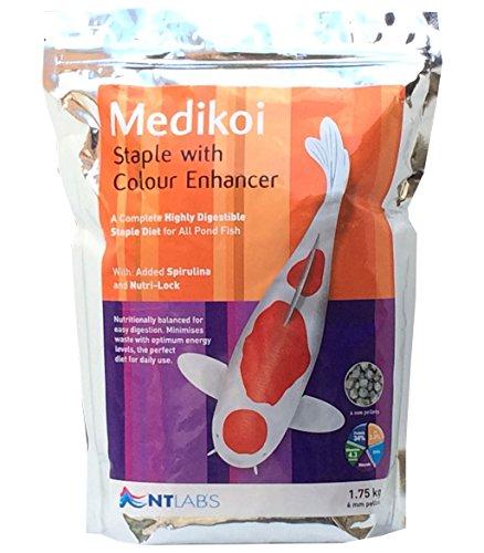 Bassin et koï Granulés de nourriture Medikoi agrafe Couleur Enhancer 1.75 kg 6 mm Ntlabs