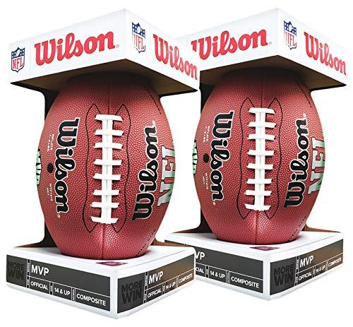 Wilson NFL MVP Fußball offizielles Produkt, Größe 2 Stück (Wilson Nfl Offizielle Größe Football)