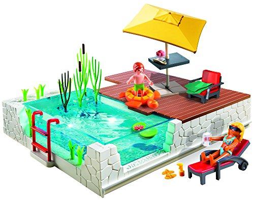 Playmobil 5575 gioco di costruzioni con piscina e - Piscina playmobil amazon ...