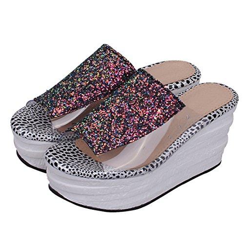 AIYOUMEI , chaussures compensées femme Noir