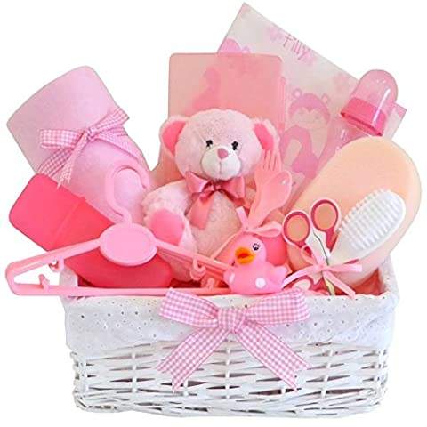 Belle DELUXE LARGE Large Baby Girl Gift Basket / 12