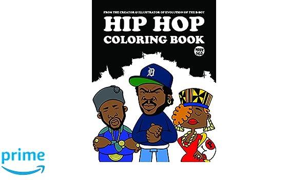 Hip Hop Coloring Book Colouring Books Amazon De Mark 563