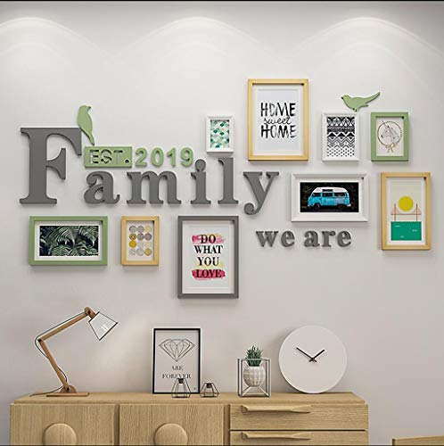 DENGJU Foto Rahmen Familie Collage Massivholz Kombination Wohnzimmer Bilderrahmen Wand Kreative Restaurant Hintergrund Wand Dekoration ( Farbe : B ) - Collage Wand Bilderrahmen