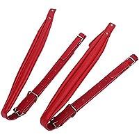 1Par de Correas de Hombro para Acordeón Correas Ajustables de PU para Acordeón con 16-120 Bajo(Rojo)
