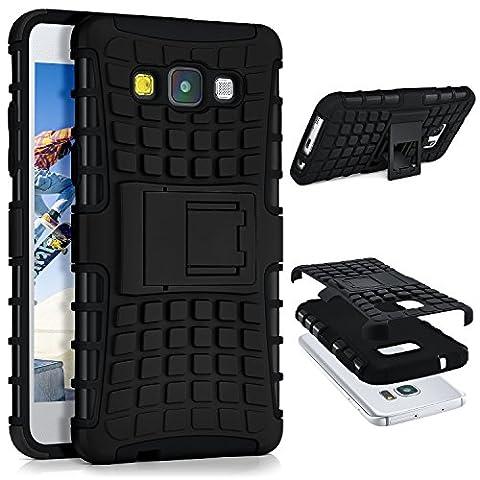 Case réservoir pour Samsung Galaxy A5 (2015) | Case extérieure avec protection double couche | Sac de protection cellulaire OneFlow | Cover Retour à Noir