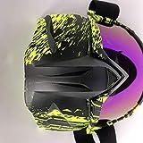 Lin-Tong Motorrad Brille Abnehmbar Maske, Blendschutz Schutzbrille für Open Face Fahrrad Helm Mode Outdoor Motocross Goggle
