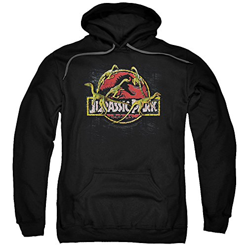 2Bhip Jurassic Park Dinosaur Movie Something Has Survived Adult Pull-Over Hoodie