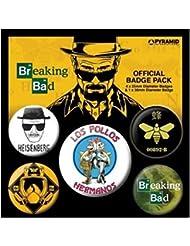 Breaking Bad Los Pollos Hermanos Designs officiel nouveau 5x Pack de Badges