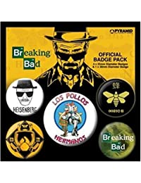 Breaking Bad Los Pollos Hermanos Designs officiel nouveau 5x Pack de Badges